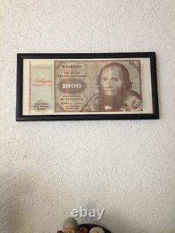 Das Fenstertuch mit der besonderen Note 1000 DM Deutsche Mark Banknote Unikat