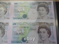 Debden c121 uncut minisheet 1996 Kentfield B364 £5 notes x 8 only 5000 issued
