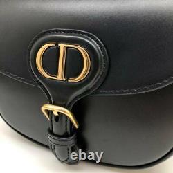 Dior Bobby Hobo Box Medium Leather Bag Black Color Shoulder Bag Strap Women