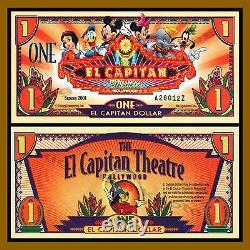 Disney 1 Dollar El Capitan Dollar, 2001 Series AZ Uncirculated