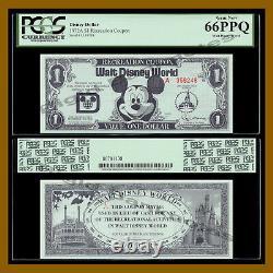 Disney 1 Dollar (Recreation Coupon), 1972, A Series (Disney World) PCGS 66 PPQ