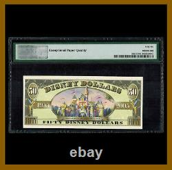 Disney 50 Dollars, 2005 Serie A S/N A00008625 Mickey Mouse PMG 66 EPQ Unc