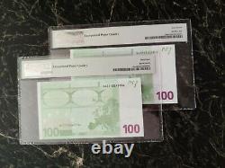 Euro 100 Banknote Pmg 68 M. Dragui Austria 2002 Prefix N Ultra Rare Top