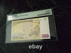 Euro 200 Banknote Pmg 67 W. F. Duisenberg Finland 2002 L Very Rare