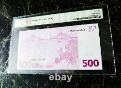 Euro 500 Banknote Pmg 66 W. F. Duisenberg Finland 2002 Prefix L Ultra Rare