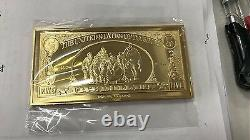 Extremely Rare! Disney Scrooge McDuck $5 Duckburg Gold Banknote LE of 150 Bar