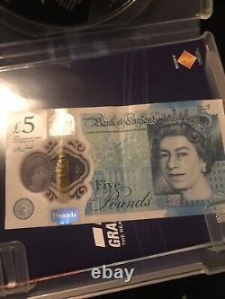 Extremly Rare Pink Hologram Missprint Five Pound £5 Note
