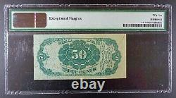Fr. 1381 Fifth Issue $0.50 Fractional Banknote, PMG AU-55