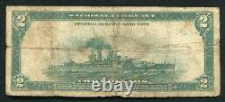 Fr. 749 1918 $2 Battleship Frbn Federal Reserve Bank Note Boston, Ma