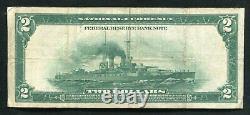 Fr. 756 1918 $2 Two Dollars Battleship Frbn Federal Reserve Bank Note Vf+