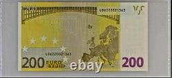 GEM UNC 200 Euro Finland European Union 2002 Duisenberg P-6l D001 66EPQ Prefix L
