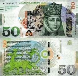 GEORGIA 5-10-20-50-100 Lari GEL 2016-2020 Pick P-76-80 UNC Banknotes SET RARE