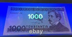 LITHUANIA Set of 100, 500 and 1000 Litu (1991-94) Litas NEVER ISSUED Banknotes