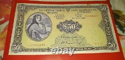 Lady Lavery Ireland 100 and 50 Irish Pounds Banknote Eire Rare Punt Bank Notes
