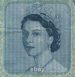 MALAYA & BRITISH BORNEO P-4a. 1953 50 Dollars. Elizabeth 11 Portrait. AVF