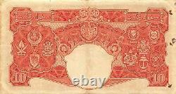 Malaya $10 1.7.1941 P 13a Series D/89 Circulated Banknote LB19