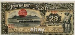 Mexico, Banknote, Frampton#M334,20 Pesos, XF, Banco de Durango, 1914, BKDUR-25, S275