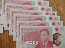 New £50 featuring Alan Turing Mint condition #### AA01 #### First Run