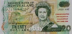 New Zealand -1996- $20 Banknote Uncirculated Queen's 70th Birthday! Scarce