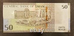 Oman New Banknote 50 Rials Commemorative 2020 Late Sultan Qaboos Unc Condition