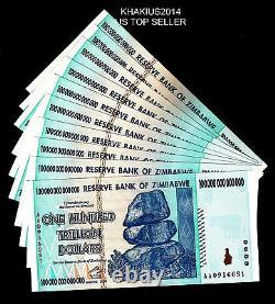 One(1) Zimbabwe Banknote 100 Trillion Dollars 2008 P 91aa Unc