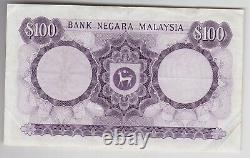 P11 Malaysia 100 Ringgit A Over 15 Banknote In Good Very Fine Condition