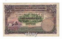 PALESTINE 500 Mils (1939) P-6c RARE VF Banknote Paper Money