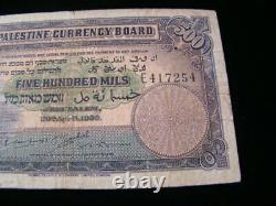 Palestine 1939 500 Mils Banknote Fine Pick#8