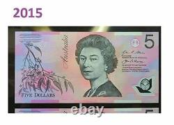 RARE 2015 $5 Note With First Prefix BA15 997 900 SLABED, STRICTLY UNCIRCULATED