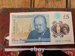 RARE £5 EXTREMELY VALUABLE COLLECTIBLE £5 NOTE s/n AK47 1939 NOT DIGITAL