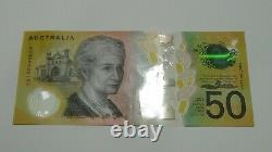 RARE BINARY SERIAL Australian $50 Note Spelling Error CA180999009