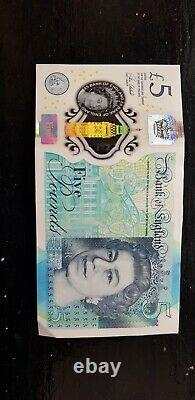 Rare CHURCHILL Polymer Five Pound Note AA 06 Serial No. £5