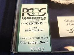 SS ANDREA DORIA Shipwreck $1 DOLLAR US Silver Certificate Bank Note PCGS GRADED