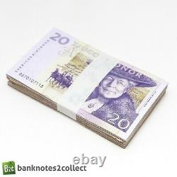 SWEDEN 100 x 20 Swedish Krona Banknotes