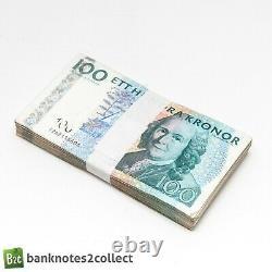 SWEDEN 20 x 100 Swedish Krona Banknotes