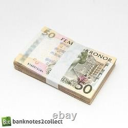 SWEDEN 50 x 50 Swedish Krona Banknotes