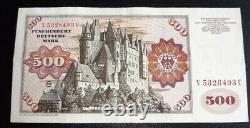 Seltener 500 DM Deutsche Mark Schein Banknote 1980