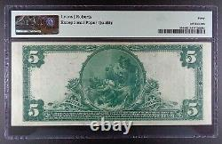 Series 1902 $5 First Nat. Bank of Albany National Banknote, PMG EF-40 EPQ