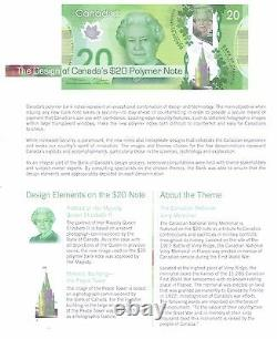 Set of NEW Canadian Uncirculated Polymer Banknotes
