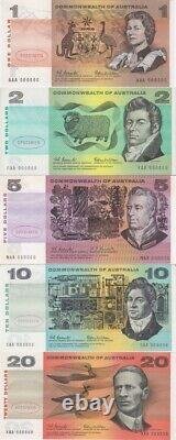 Type I Specimen Banknote Set In Beige Folder (10 Notes, $1 $20, Including $5)
