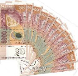 UNC 5000 korun banknote Slovakia overprint BIMELINIUM