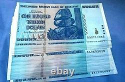 ZIMBABWE $100 Trillion, P91, Banknote Bundle 1/2 UNC