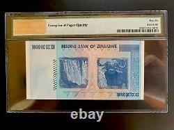 Zimbabwe 100 Trillion Banknote ZA Replacement 2008 P-91 PMG-66 EPQ GEM UNC