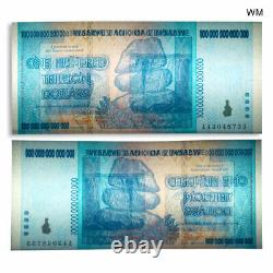 Zimbabwe 100 Trillion Dollars Banknote Currency Uncirculated 2008