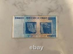 Zimbabwe Banknote, $100 Trillion Dollars, AA Series, 2008 Circulated (Used)