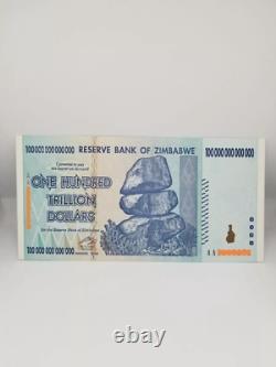 Zimbabwe Banknote, $100 Trillion Dollars, AA Series, 2008 UNC Authentic