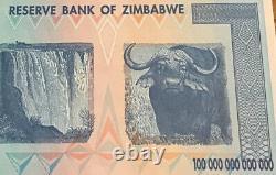 Zimbabwe Banknote. 100 Trillion Dollars. Uncirculated. Harare 2008, P91